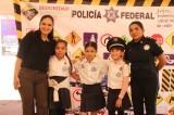 Promueven entre niños  acercamiento con la Policía Federal