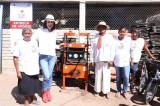 Rosy Fuentes pone en marcha Fábrica de Block en la comunidad El Trébol II