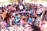 Festeja Cuén a  niñas y niños indígenas de Ocoroni, Sinaloa de Leyva