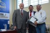 Rector entrega obra física en la Facultad de Agronomía como parte de la celebración de su LVIII aniversario