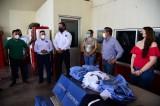 Entrega Alcalde  uniformes a los Bomberos de Guamúchil