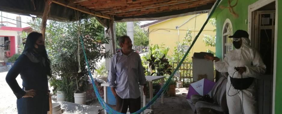 Realizan jornada de sanitización en Playa Colorada