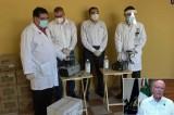 Entrega UAS 26 cámaras generadoras de humo para sanitizar espacios universitarios