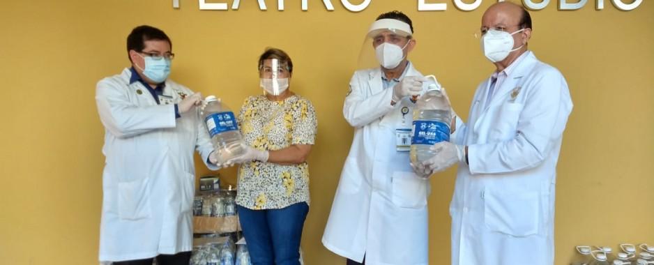 La UAS hace entrega de 79 galones de gel antibacterial a unidades académicas
