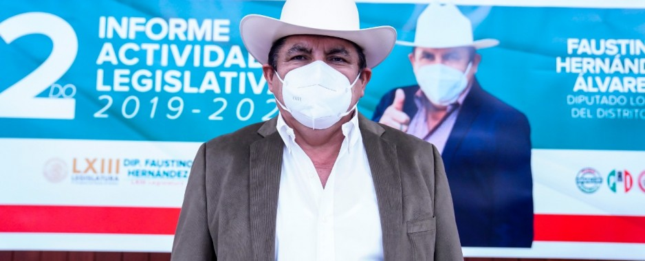 Presenta Faustino Hernández su segundo informe de actividades Legislativas