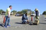 Comienzan trabajos de bacheo en carretera Mocorito-Cerro Agudo