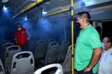 Sanitiza PRI, CNC y CTM Transporte Urbano de Salvador Alvarado
