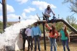 Pone en marcha Lorena Pérez pozo de agua potable