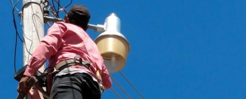 Mejoran alumbrado público en Sindicatura de Melchor Ocampo, Mocorito