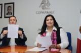 Rosa Elena Millán, primera candidata en signar 10 compromisos de Coparmex