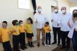 Rector inaugura el Jardín de Niños y el Centro de Investigación Aplicada en Salud Pública