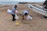 Evitan que 1.4 toneladas de basura llegue al mar con limpieza masiva de playas en Mazatlán