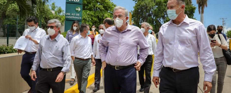 Rubén Rocha Moya se integra a estrategias de Salud contra Covid-19
