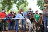 Cumple Lorena Pérez un sueño para habitantes de El Llano de los Rochín