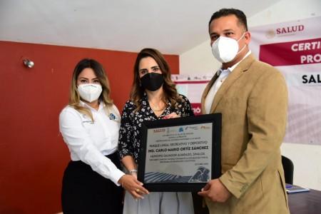 Recibe Salvador Alvarado certificación como Municipio Promotor de la Salud